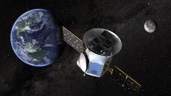 TESS, the Transiting Exoplanet Survey Satellite, is shown in this conceptual illustration obtained by Reuters on March 28, 2018.  NASA plans to send TESS into orbit from the Kennedy Space Center in Florida aboard a SpaceX Falcon 9 rocket set for blastoff sometime between April 16 and June on a two-year mission.    NASA's Goddard Space Flight Center/Handout via REUTERS   ATTENTION EDITORS - THIS IMAGE WAS PROVIDED BY A THIRD PARTY.