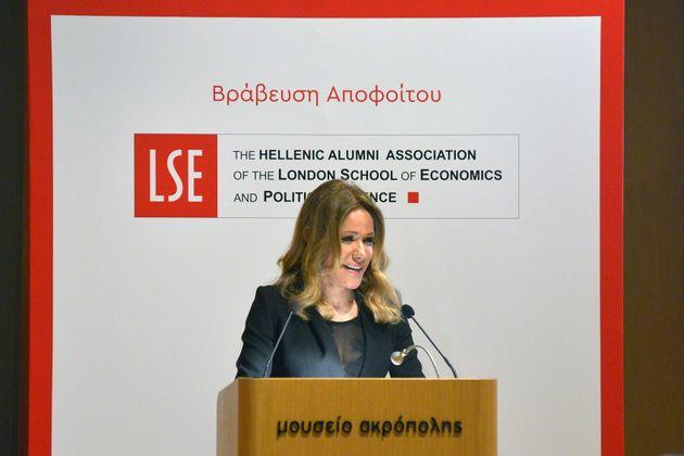 Ο Ελληνικός Σύλλογος αποφοίτων του LSE βράβευσε την κα Μαριάννα