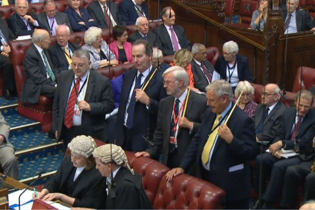 The Lords inflicted a 123-majority defeat on the Government on Wednesday