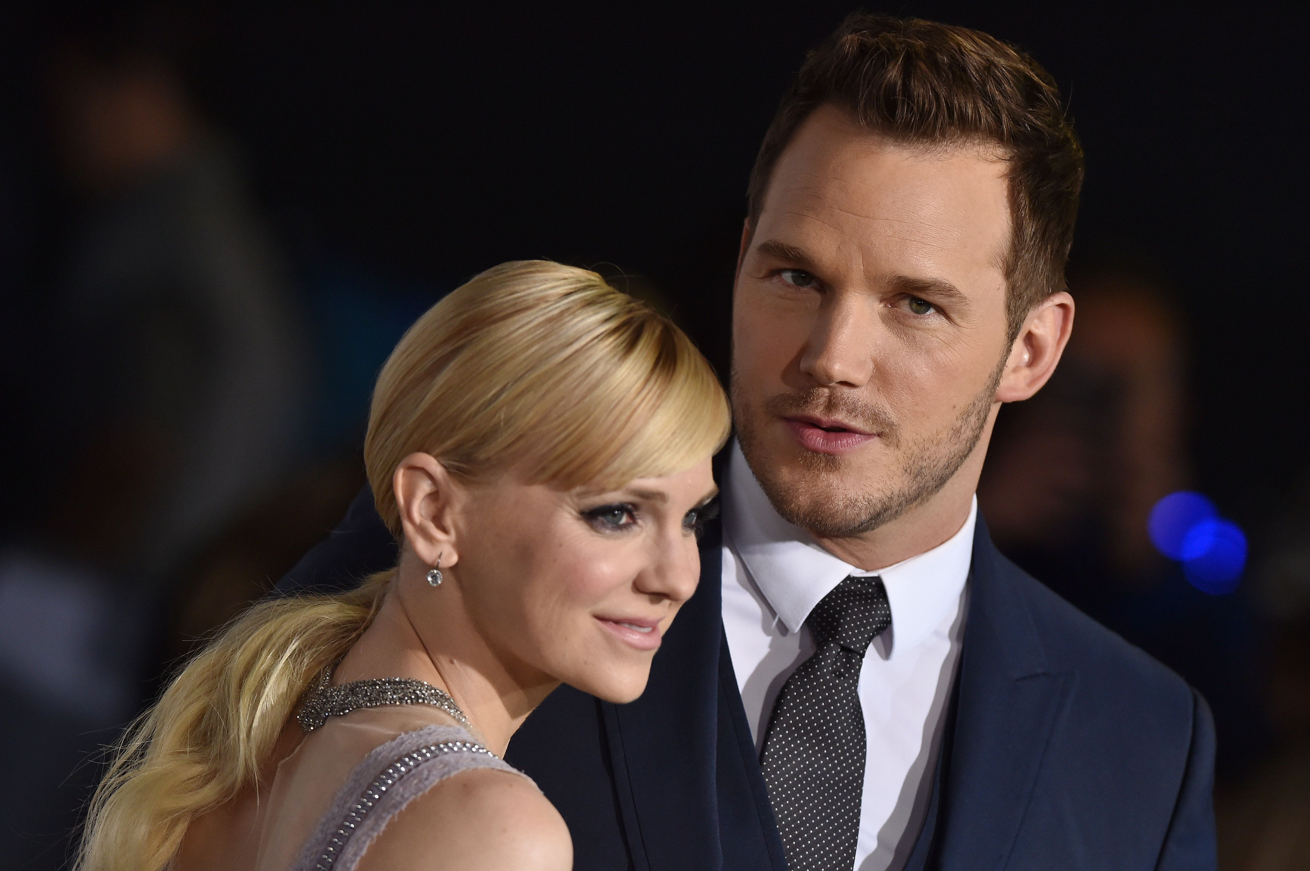 Anna Faris and Chris Pratt arrive at the premiere of Columbia Pictures'
