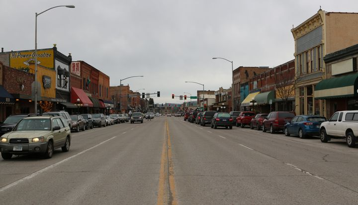 Downtown Kalispell is quiet in shoulder season, when most of the tourists are out of town. Kalispell is the hub of Flathead C