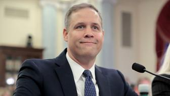 WASHINGTON, DC - NOVEMBER 01:  Rep. James Bridenstine (R-OK) testifies before the Senate Commerce, Science and Transportation Committee during his confirmation hearing to be administrator of the National Aeronautics and Space Administration (NASA) in the Russell Senate Office Building on Capitol Hill November 1, 2017 in Washington, DC. Democratic members of the committee expressed reservations about Bridenstine's qualifications to head NASA, including his political career and lack of science credentials.  (Photo by Chip Somodevilla/Getty Images)