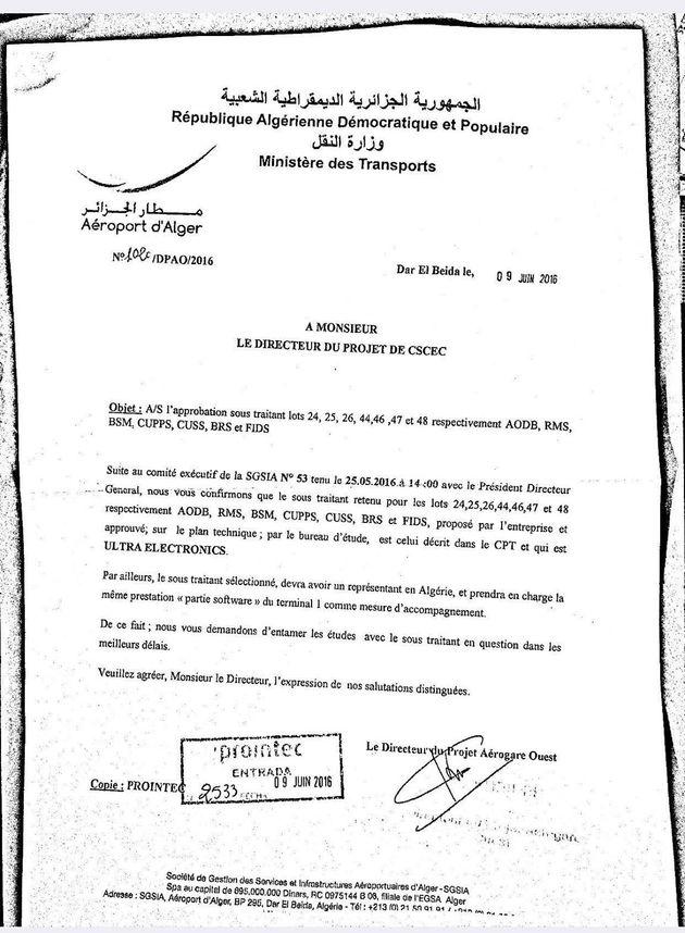 L'enquête britannique pour corruption viserait un marché impliquant l'aéroport d'Alger, selon Ultra