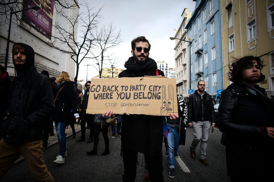 Junge Demonstranten protestierten im März in Lissabon gegen die mangelnden Reformen auf dem immer