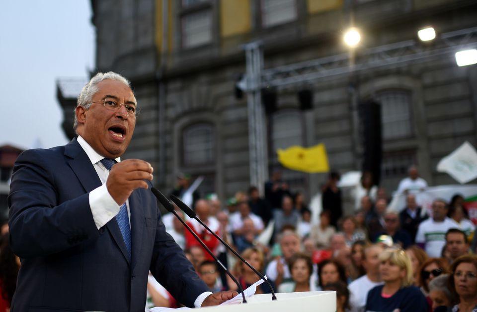 Costa bei einem Wahlkampfauftritt im September