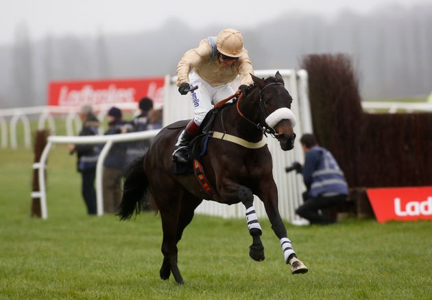 Dame Rose, pictured being ridden in a separate event, collapsed and died after racing in hot weather on Thursday.