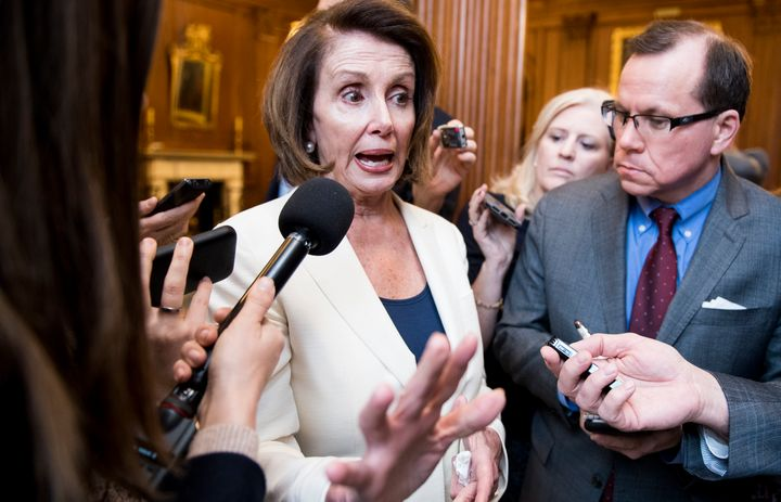 """House Minority Leader Nancy Pelosi (D-Calif.) has been going after Republicans for a""""culture of corruption, crony"""