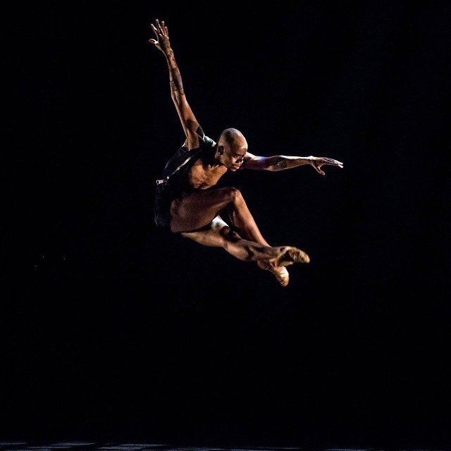 Terk Lewis, a performer with Black Boys Dance Too, performs in a production for Complexions Contemporary