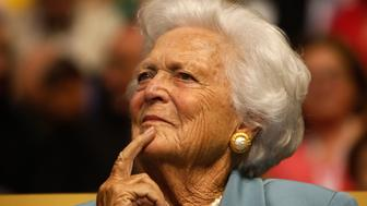 ST. PAUL, MN - SEPTEMBER 02:  Former first lady Barbara Bush attends day two of the Republican National Convention (RNC) at the Xcel Energy Center on September 2, 2008 in St. Paul, Minnesota. The GOP will nominate U.S. Sen. John McCain (R-AZ) as the Republican choice for U.S. President on the last day of the convention.  (Photo by Scott Olson/Getty Images)