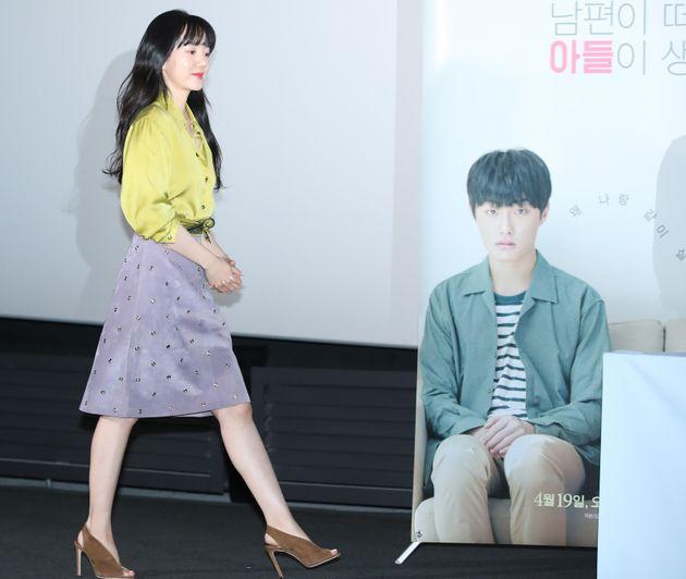 6일 서울 용산CGV에서 열린 영화 '당신의 부탁' 시사회에 참석한 배우