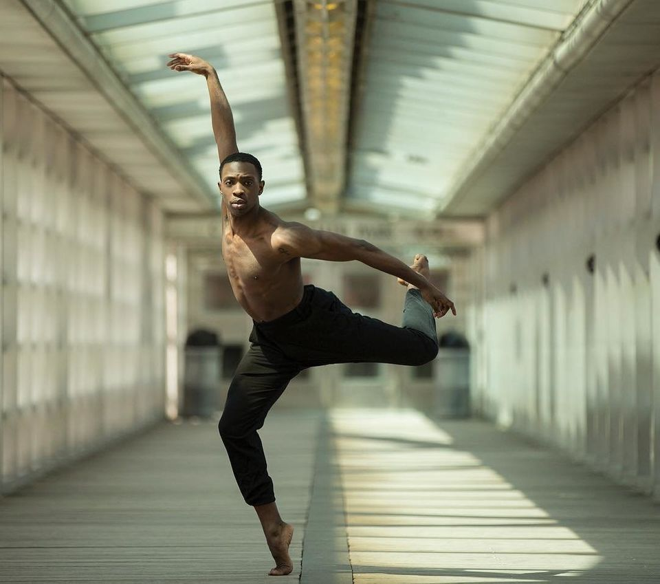 Lloyd Boyd, a performer with Black Boys Dance