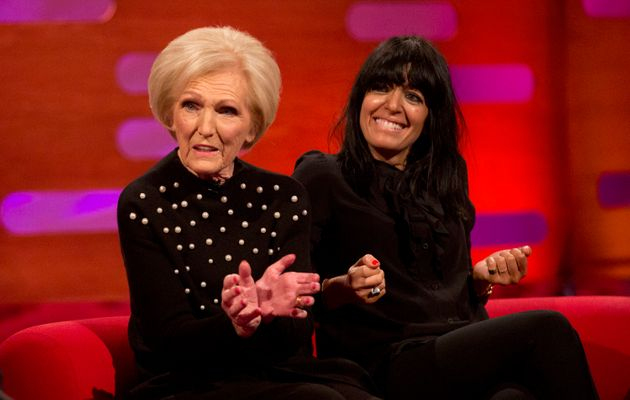 Mary with her 'Britain's Best Home Cook' co-host, Claudia
