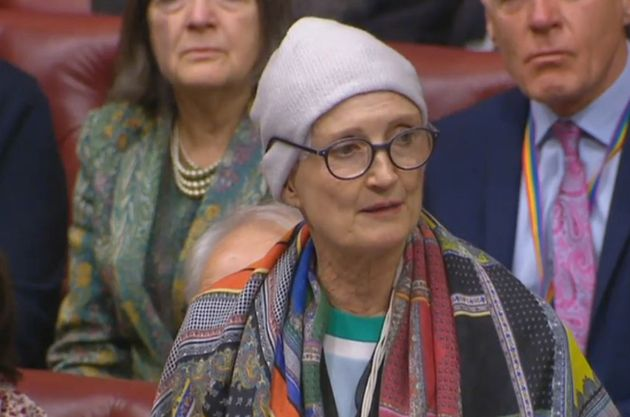 Dame Tessa Jowell speaking in the House of Lords in