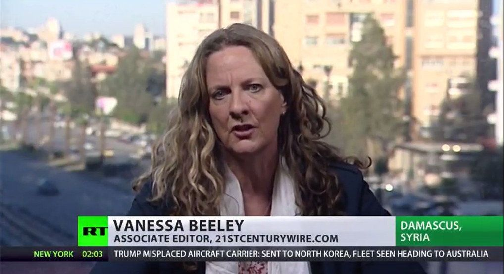 Beeley is regularly invited to speak on Russian state