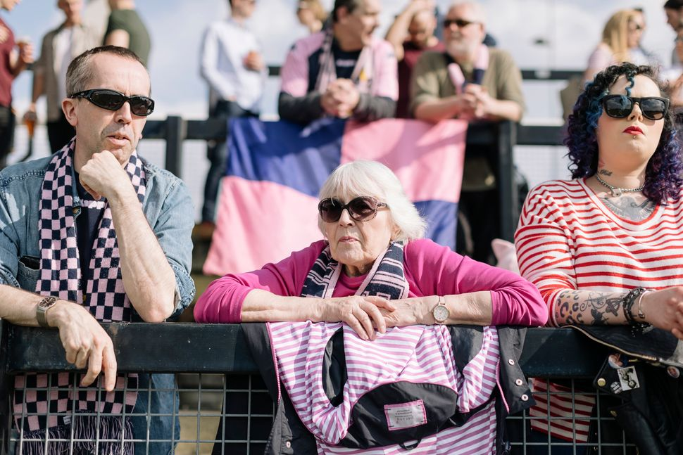 Dulwich Hamlet supporters.