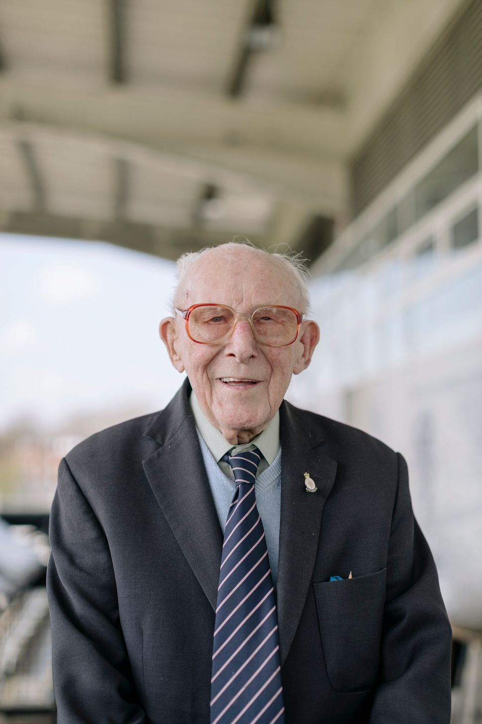 Bill Kirby, 98, has been supporting Dulwich Hamlet since 1932.