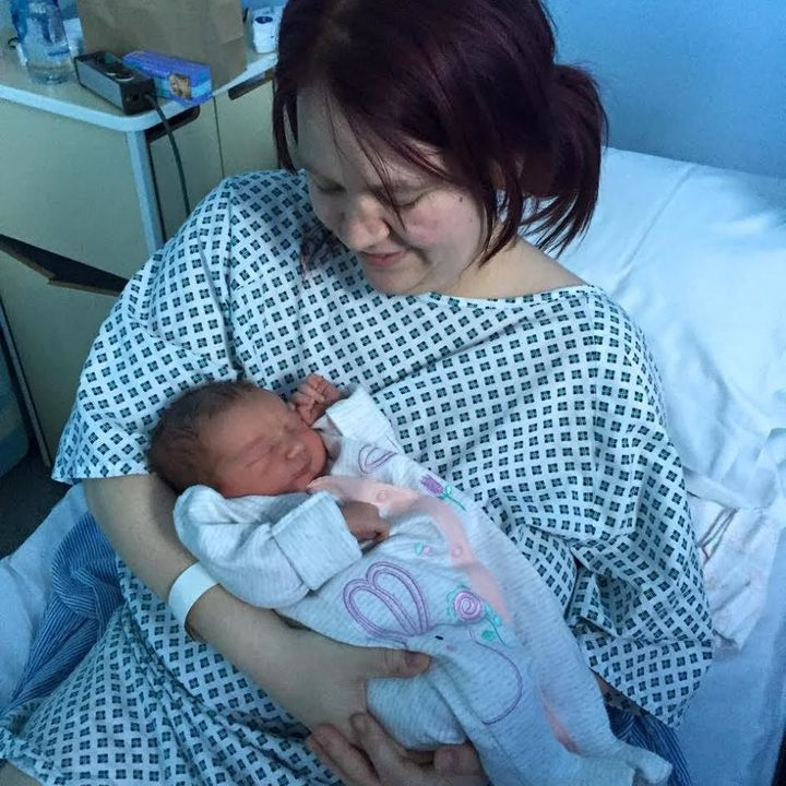 Mum and shock daughter on day one