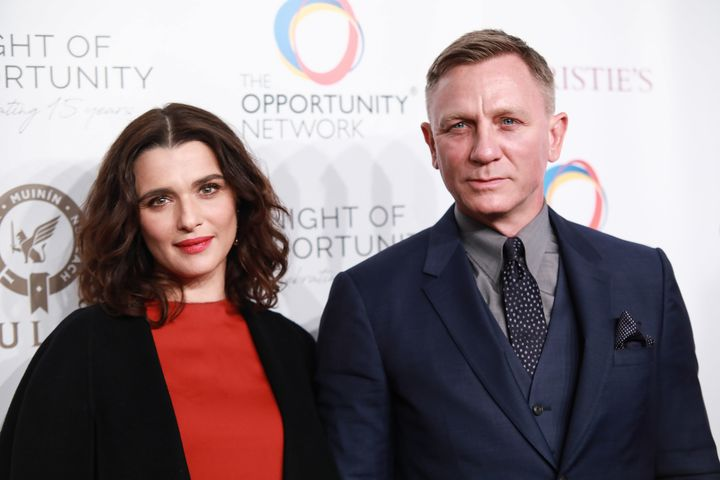 Rachel Weisz and Daniel Craig attend pictured together in April 2018.