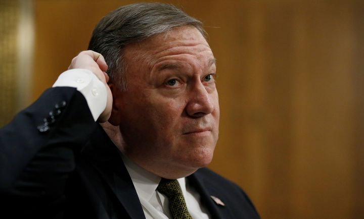 CIA Director Mike Pompeo testifies before a Senate Foreign Relations Committee confirmation hearing on April 12, 2018.