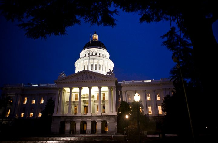 An exterior shot of the State Capitol is seen in Sacramento, Calif., Feb. 17, 2009.