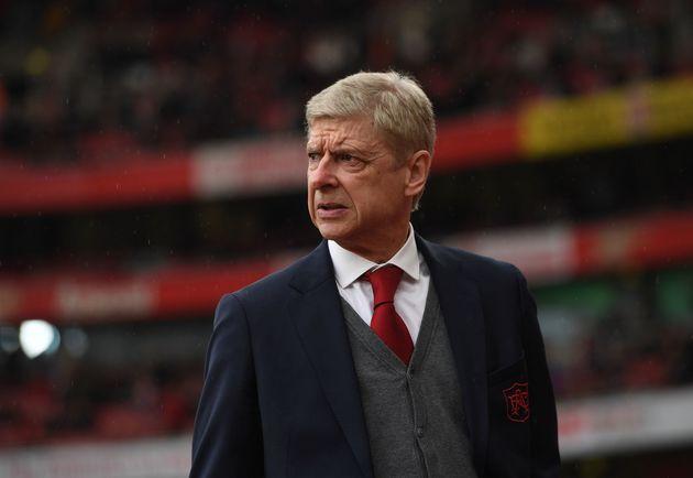 Arsène Wenger lors du match Arsenal - Southampton pour le compte de la Premier League anglaise,...