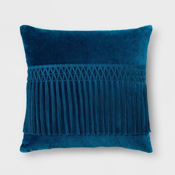 "Get it from <a href=""https://www.target.com/p/velvet-fringe-square-pillow-opalhouse-153/-/A-53013860?preselect=52985901#lnk=s"