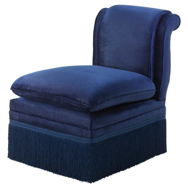 """Get it from <a href=""""https://www.houzz.com/product/105376770-blue-lounge-chair-eichholtz-boucheron-blue-21x30x29-traditional-"""