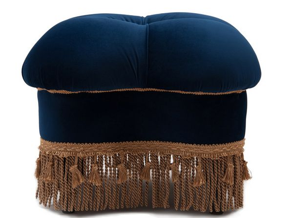 """Get it from <a href=""""https://www.houzz.com/product/88534027-ellen-hand-tufted-ottoman-navy-blue-traditional-footstools-and-ot"""