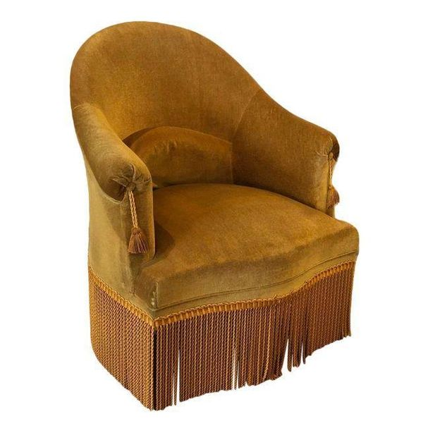 """Get it from <a href=""""https://www.chairish.com/product/1036595/velvet-crapaud-chair"""" target=""""_blank"""">Chairish</a>."""