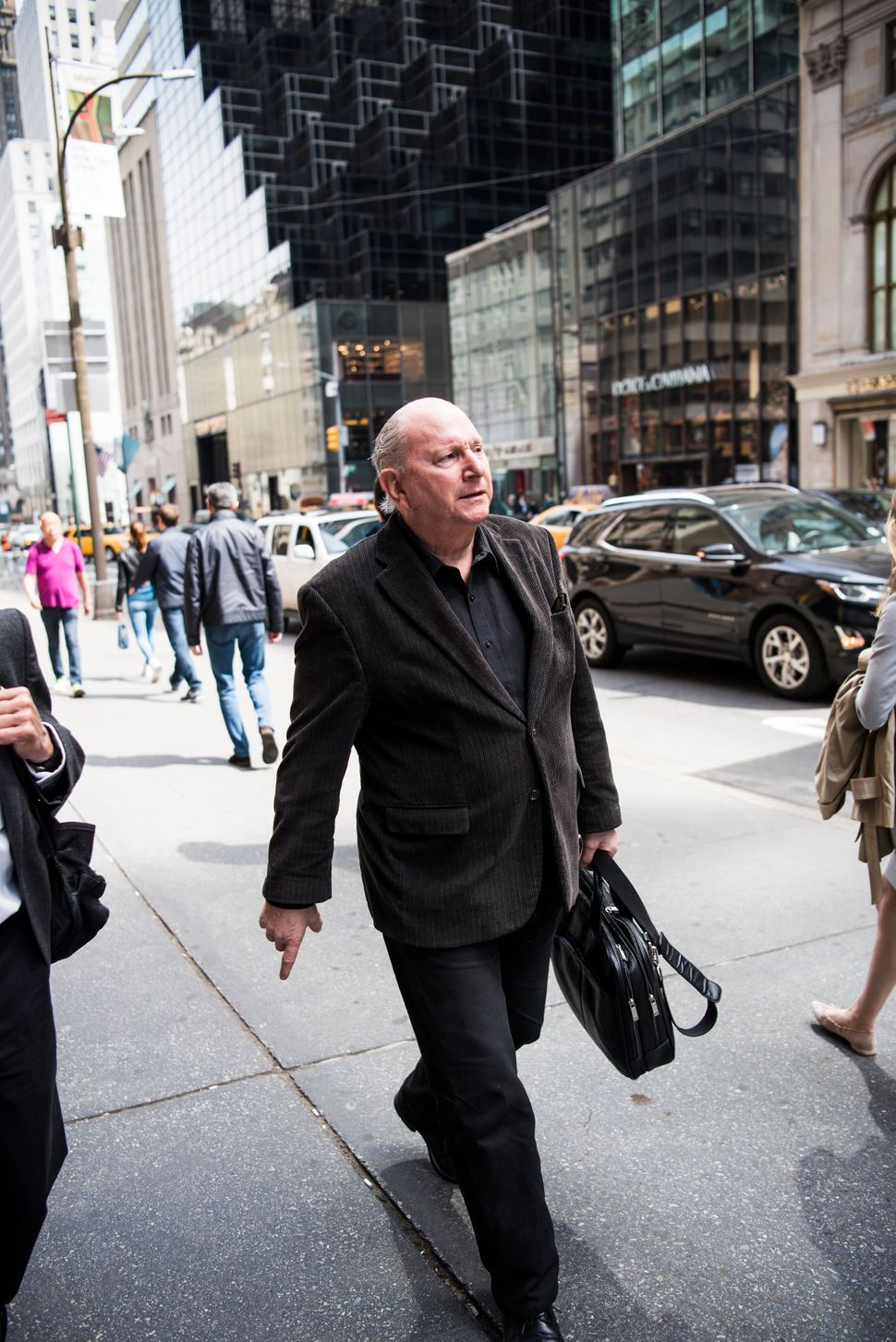 Jerome Rose walks along Fifth Avenue in Manhattan. He has moved to a ground-floor apartment after a fire in his previous