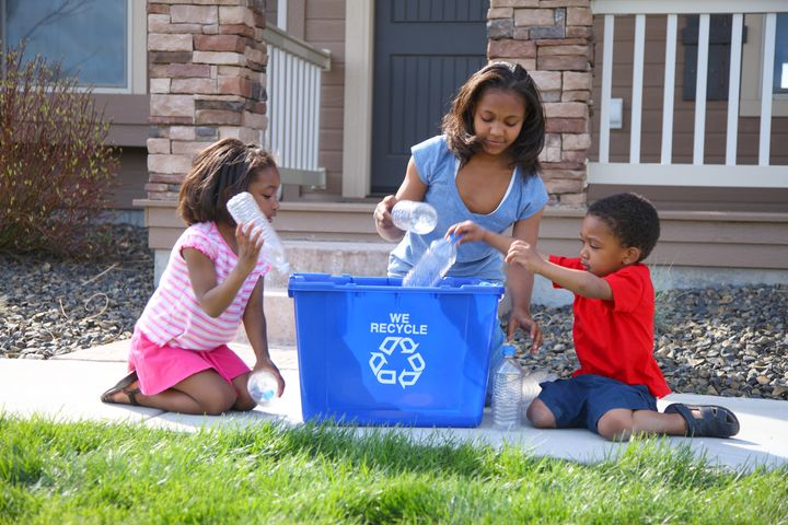 """Instead of throwing trash directly in a trash can that will go straight to the landfill, stop and see if it can be reu"