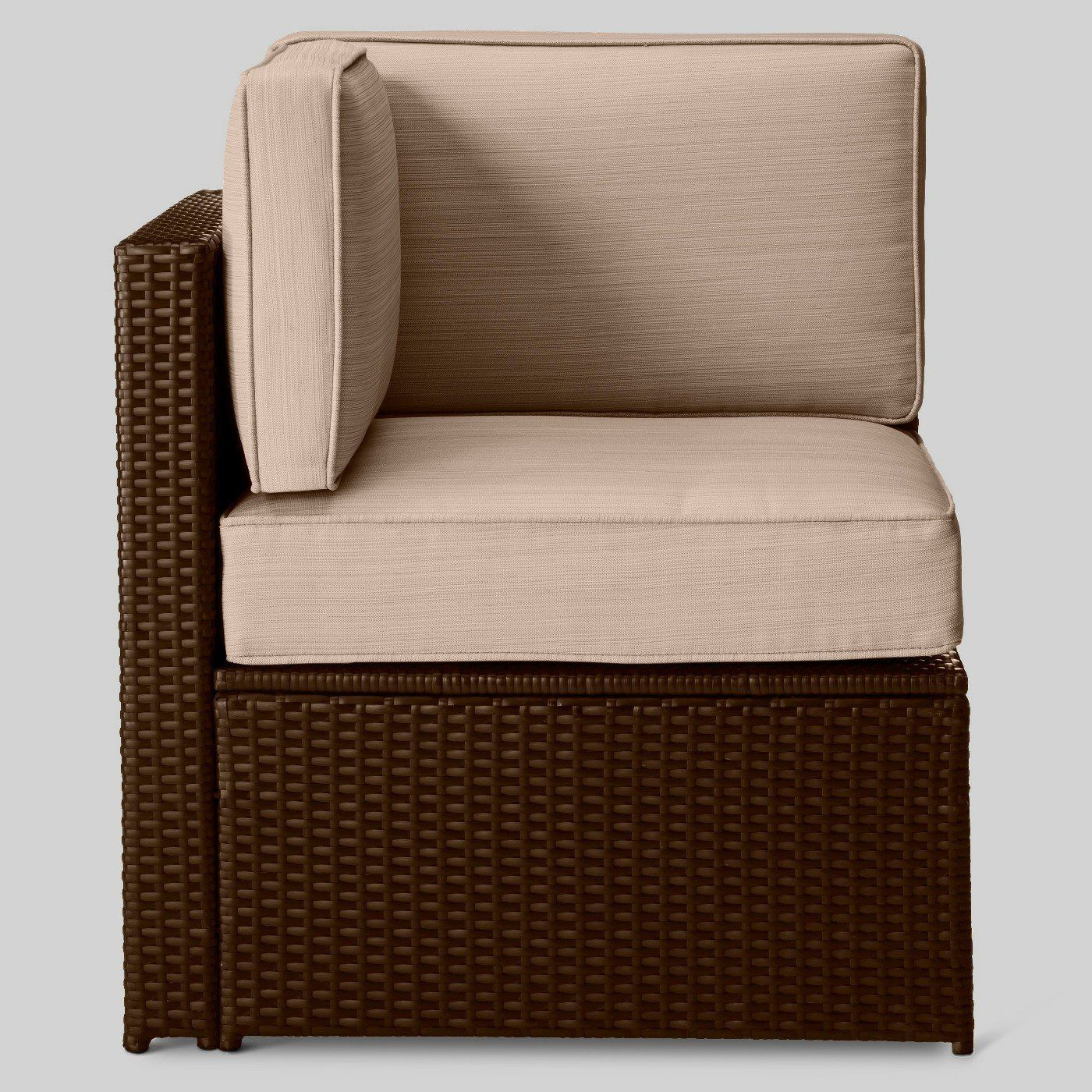 Wicker Sectional Corner Chair. Target. Look For Individual Pieces Of  Furniture When It Comes To Your Small Outdoor Space ...