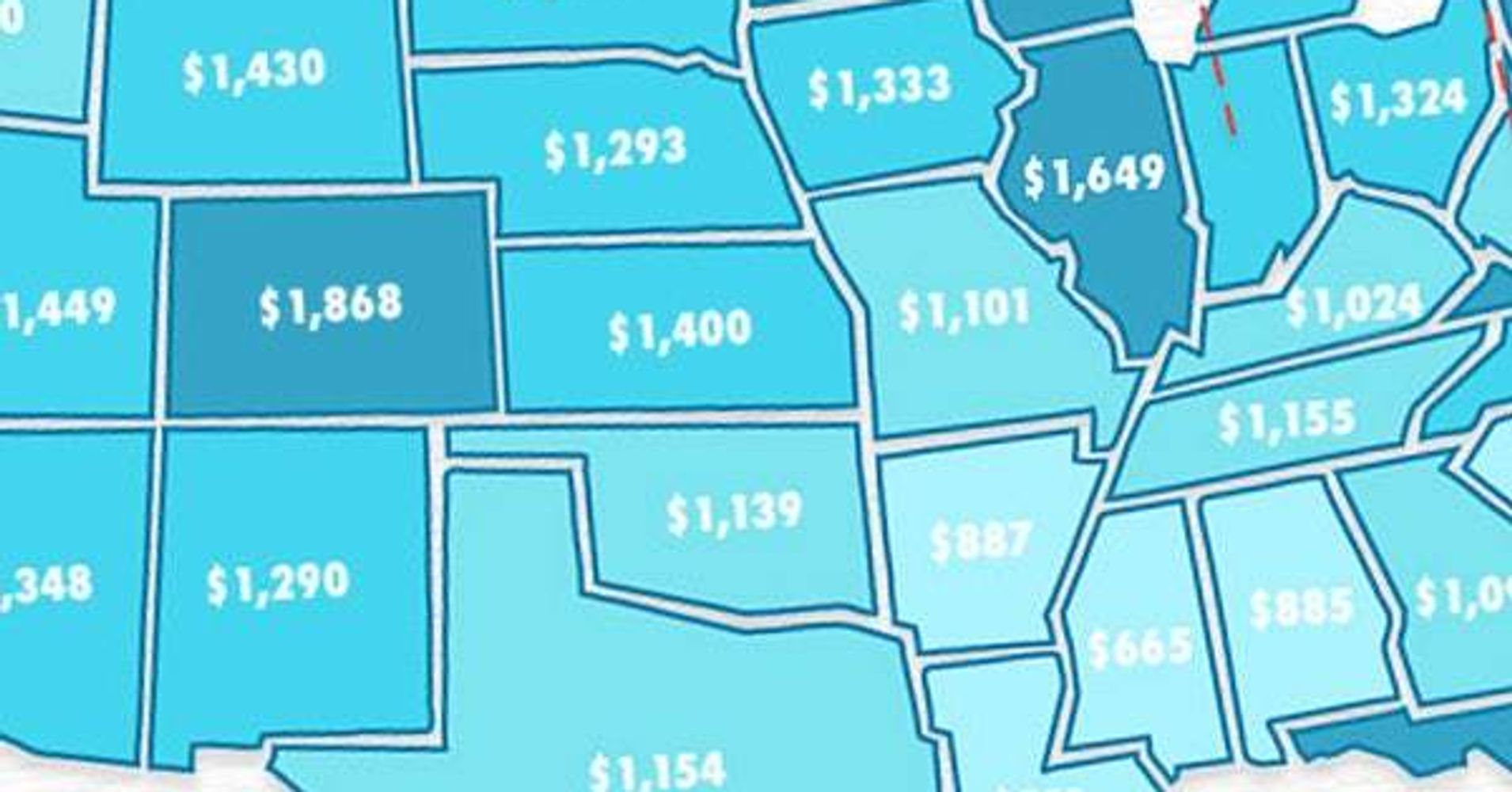 These Maps Show The Average Cost Of Childcare In Each State   HuffPost