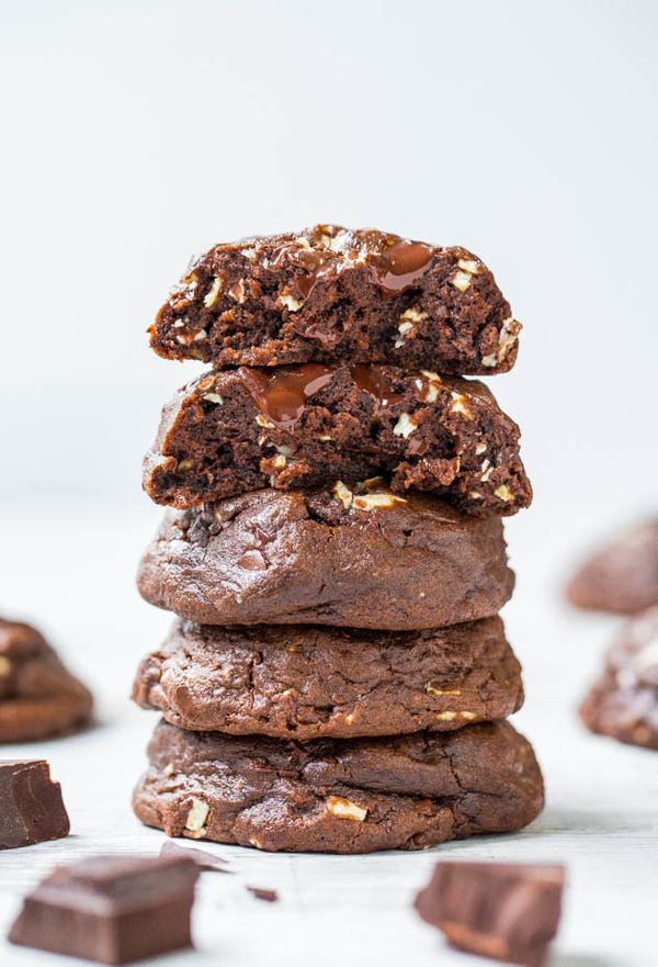 """<strong>Get the <a href=""""https://www.averiecooks.com/andes-mint-chip-soft-fudgy-chocolate-cookies/"""" target=""""_blank"""">Andes Min"""