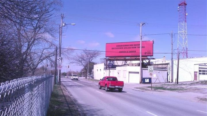 Billboard in Omaha on NRA contributions to Rep. Don Bacon (R-Neb.).