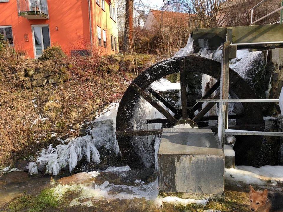 Das Mühlenrad versorgt drei Haushalte mit
