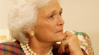 First Lady Barbara Bush (Photo by © Wally McNamee/CORBIS/Corbis via Getty Images)
