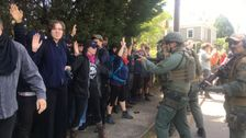Militarized Cops At Tiny Georgia Neo-Nazi Rally Arrest Counterprotesters For Wearing Masks