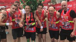 Hero Firefighters Who Tackled The Grenfell Blaze Have Completed The London Marathon
