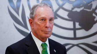 Michael Bloomberg poses after he was appointed Special Envoy for Climate Action UN by Secretary-General Antonio Guterres at the United Nations headquarters on March 5, 2018 in New York. / AFP PHOTO / KENA BETANCUR        (Photo credit should read KENA BETANCUR/AFP/Getty Images)