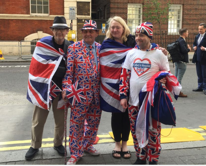 The royal family's biggest fans have taken centre stage outside the Lindo