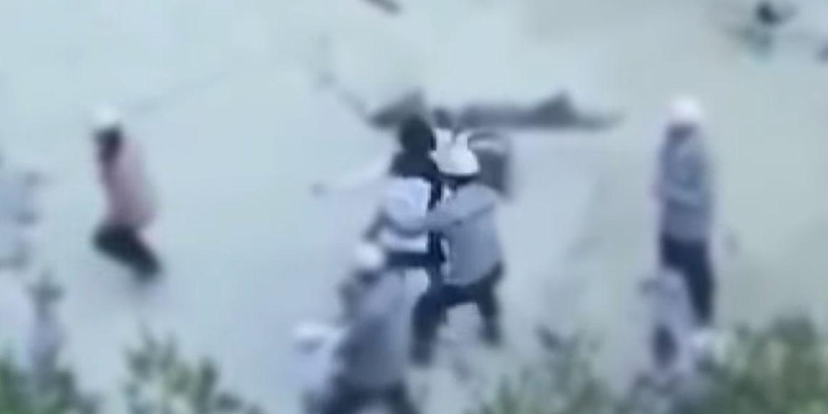 이명희 추정 인물이 직원들에 폭력을 쓰는 영상이 공개됐다