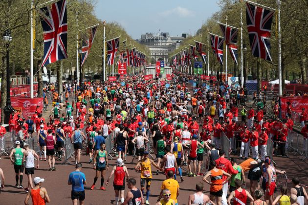 The London Marathon saw mass road closures all over the city as thousands of runners took to the