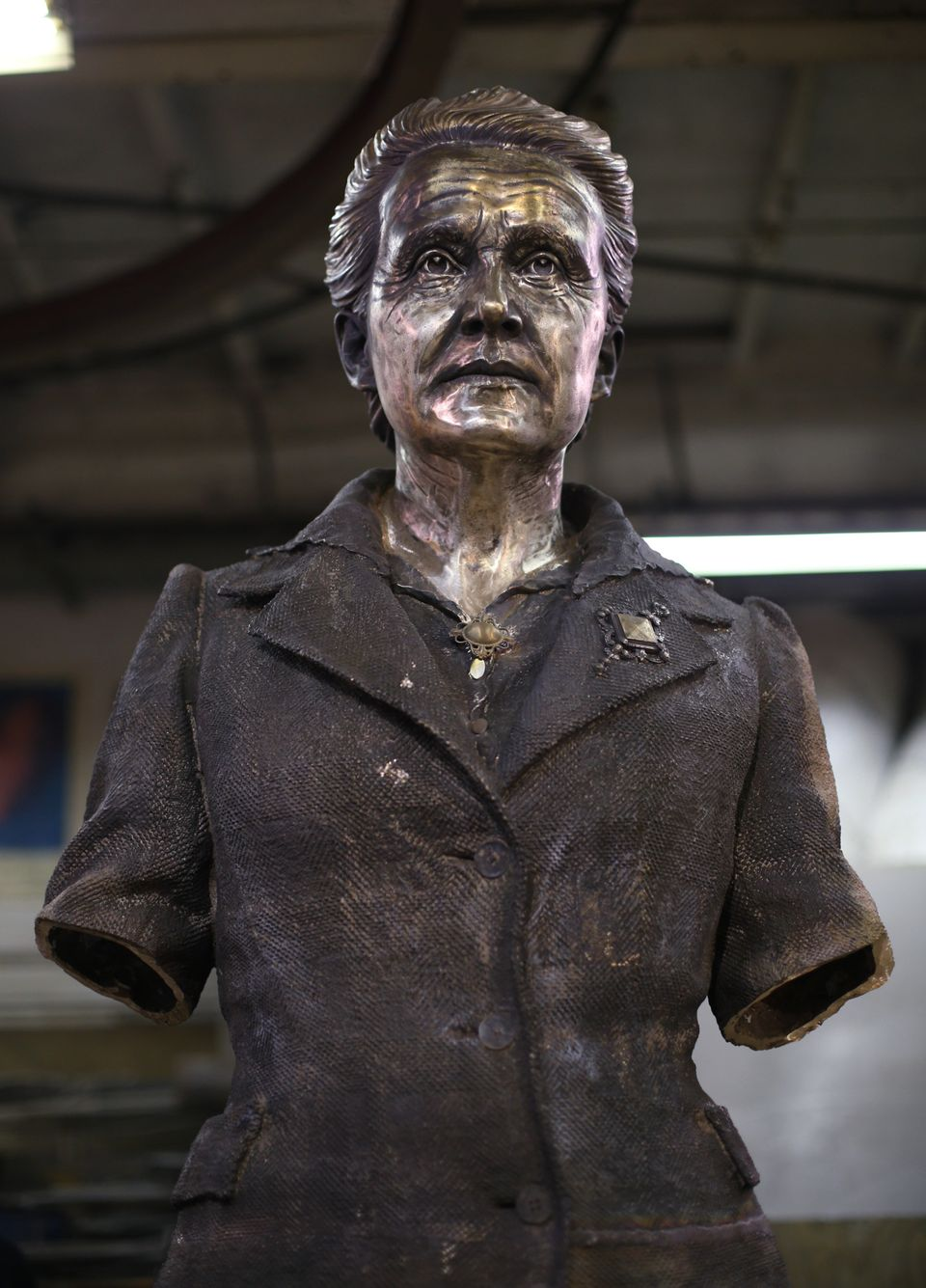 The statue before the finishing touches have been added by artist Gillian Wearing