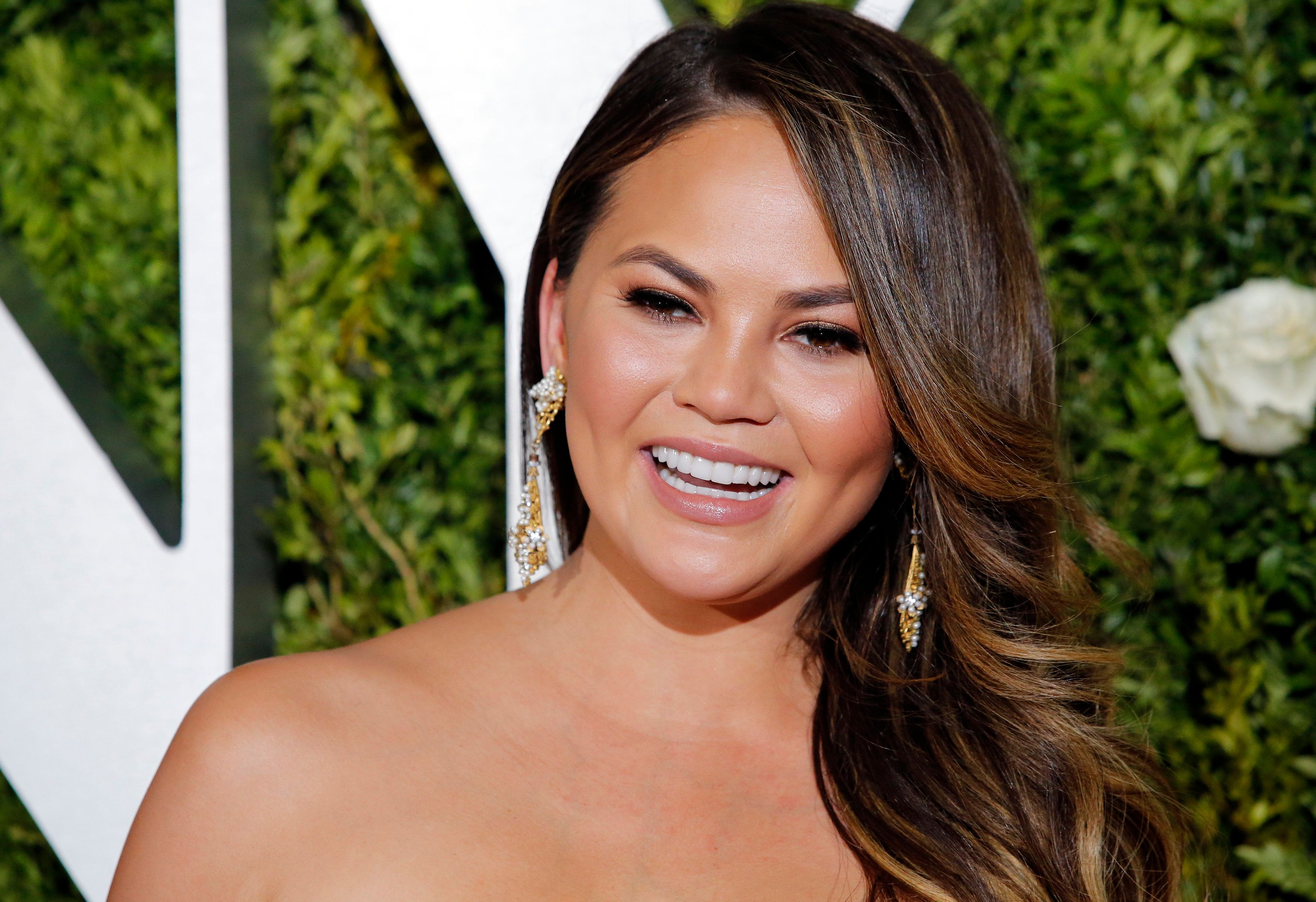 71st Tony Awards – Arrivals – New York City, U.S., 11/06/2017 - Chrissy Teigen. REUTERS/Eduardo Munoz Alvarez
