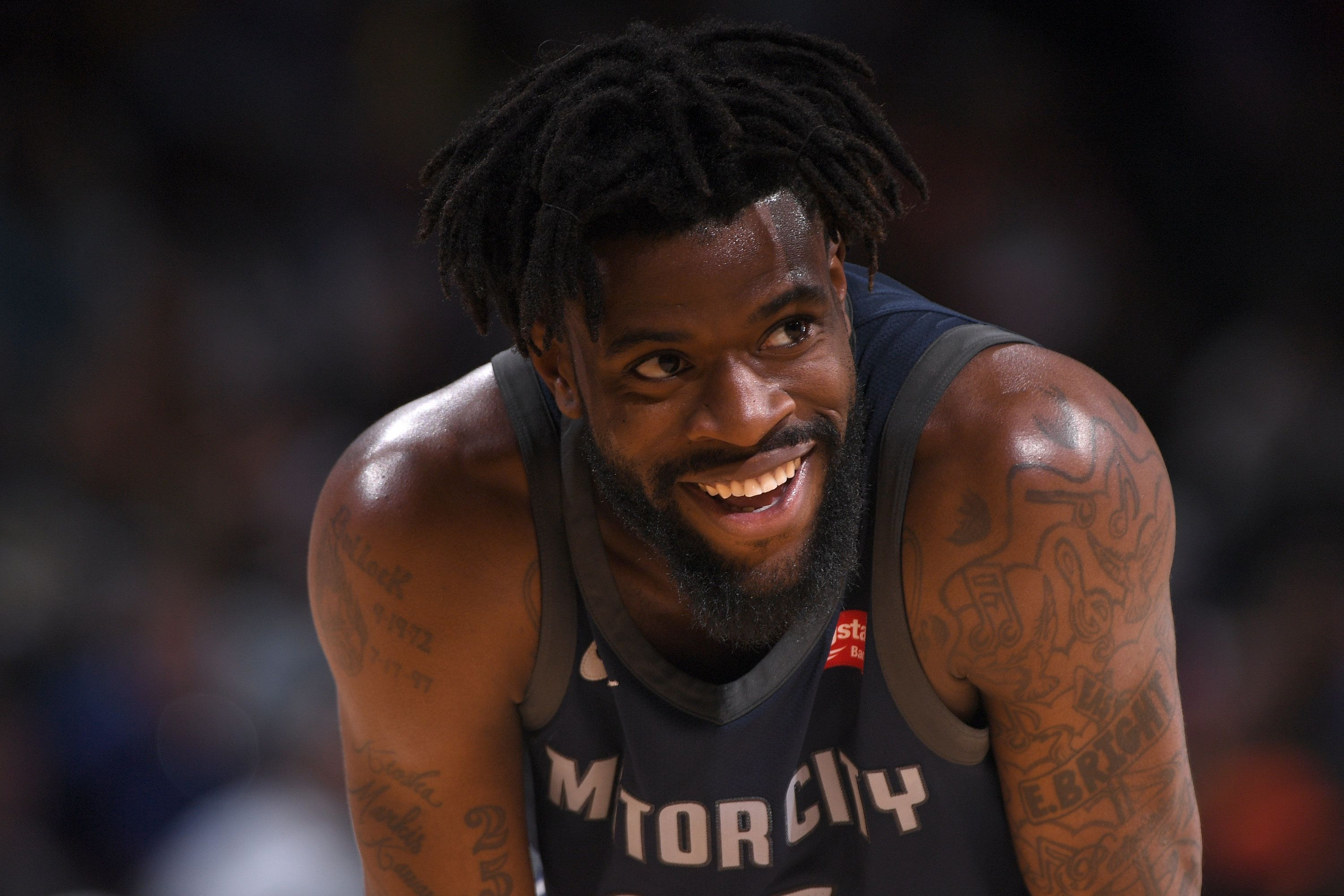 DENVER, CO - MARCH 15: Reggie Bullock #25 of the Detroit Pistons looks on during the game against the Denver Nuggets on March 15, 2018 at the Pepsi Center in Denver, Colorado. NOTE TO USER: User expressly acknowledges and agrees that, by downloading and/or using this photograph, user is consenting to the terms and conditions of the Getty Images License Agreement. Mandatory Copyright Notice: Copyright 2018 NBAE (Photo by Garrett Ellwood/NBAE via Getty Images)