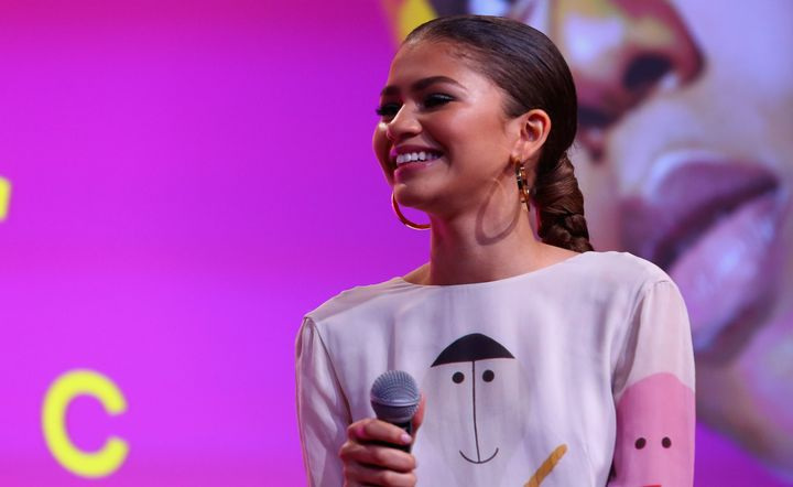 Actress Zendaya spoke on a panel during Beautycon Festival in New York City, on April 22, 2018.