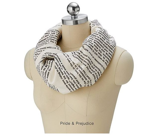 """Get it at <a href=""""https://www.uncommongoods.com/product/literary-scarves"""" target=""""_blank"""">Uncommon Goods</a>."""