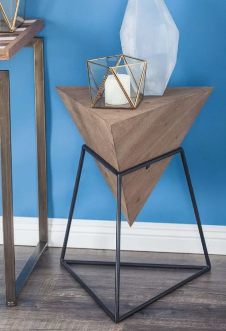 """Get it from <a href=""""https://www.wayfair.com/furniture/pdp/wrought-studio-mcniel-metal-triangle-end-table-vark5721.html"""" targ"""