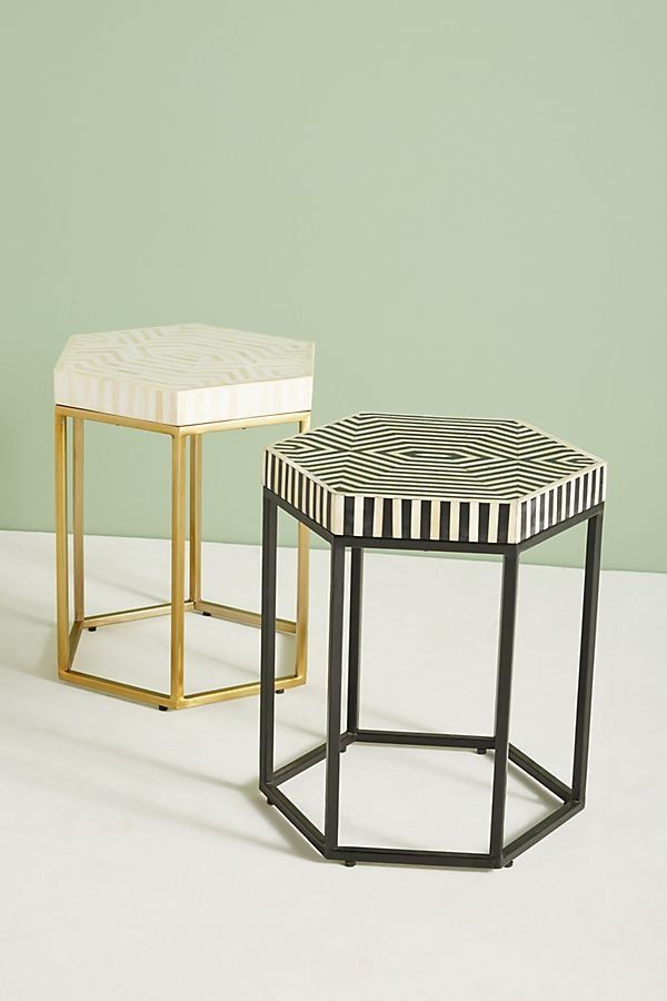 """Get it from <a href=""""https://www.anthropologie.com/shop/hexagonal-inlay-side-table?category=furniture-end-tables&color=01"""